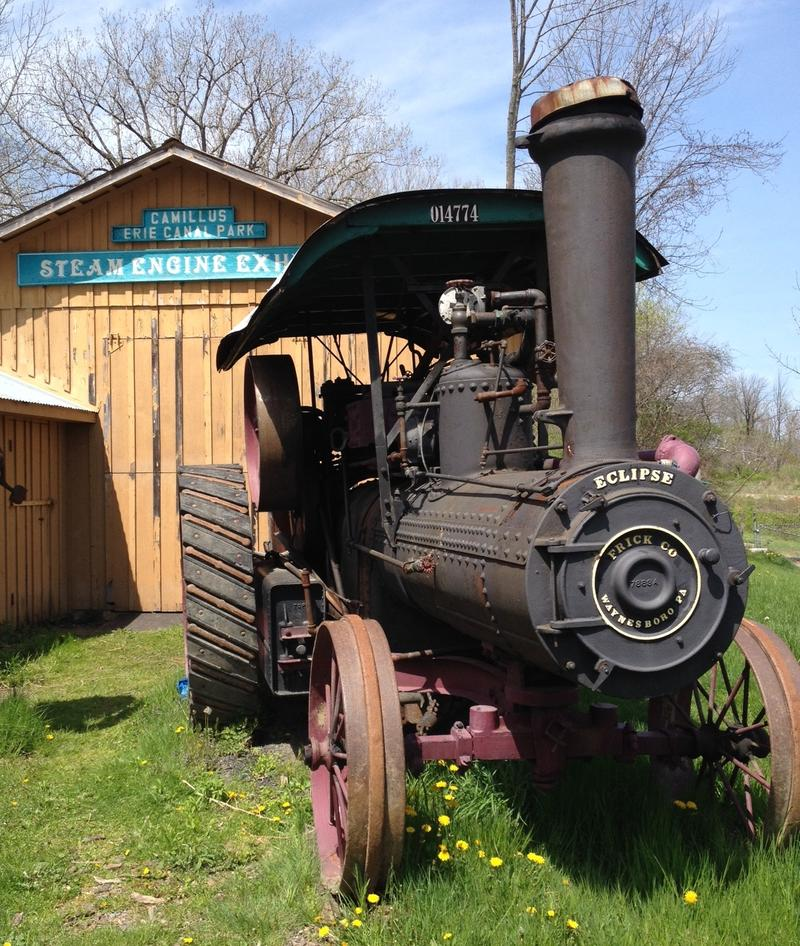 A steam engine exhibit is also part of the park and museum in Camillus.