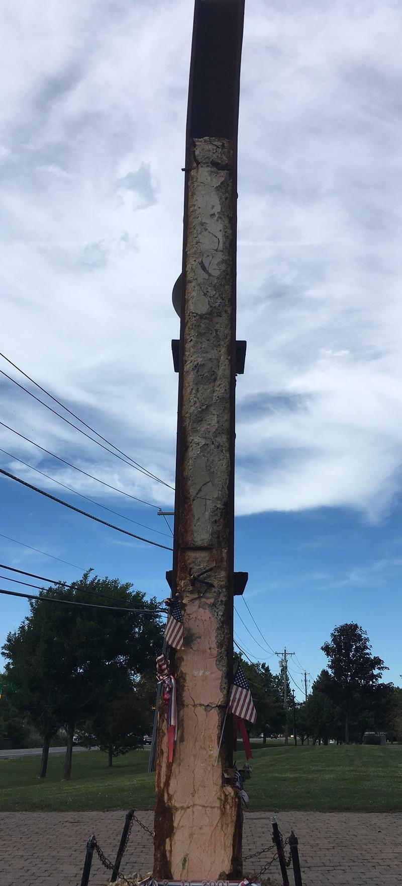 Concrete is still embedded in the column.