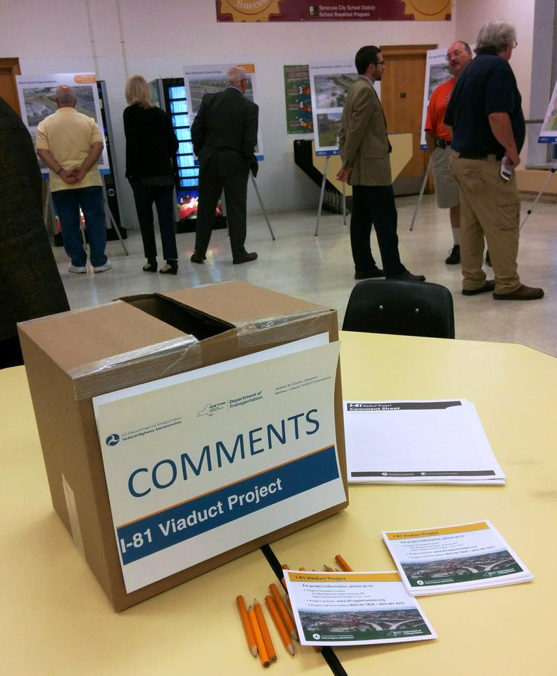 Comments Box on table at Henninger High School.