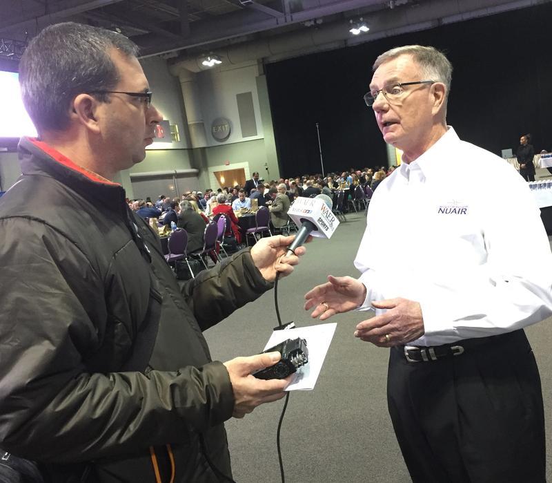 NuAir Executive Director Larry Brinker talks to WAER's Scott Willis.
