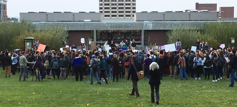 The march ends on SUNY ESF quad, where the rally continued.