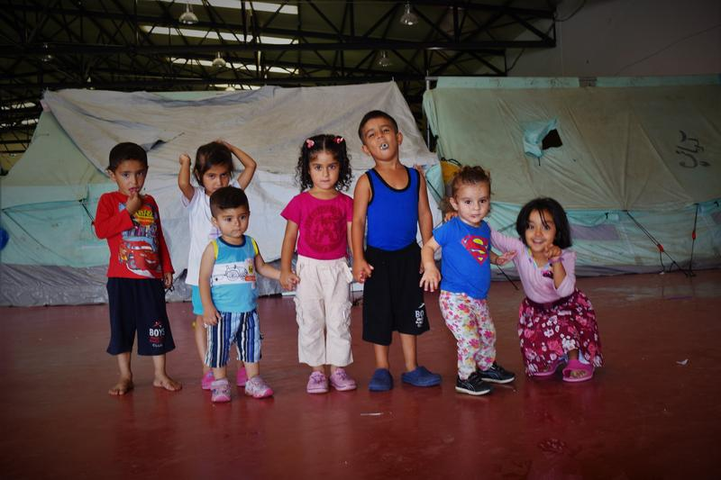 Some of the children in the camp.