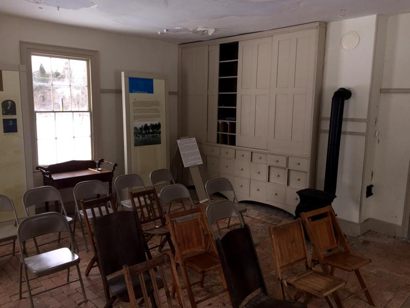 The interior of the land office on the Smith estate is much like it was in the 19th century, where Smith conducted the business enterprise that funded many anti-slavery peopel and activities