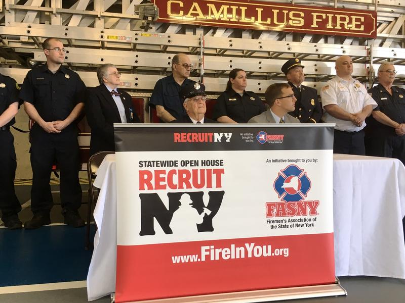Members representing several volunteer fire departments in Onondaga County were on hand for Wednesday's press conference.