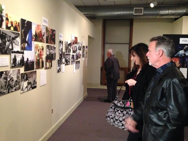 Maria DeSantis and Dave Hanlon were at the kick off for the All That Jazz photo exhibit at OHA, seeing themselves in pictures of past performances.