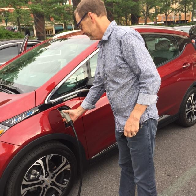 The EV experience with the Chevy Bolt started wiht charging at a municiple parking lot in Syracuse