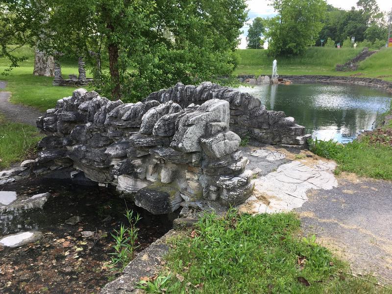 A stone bridge is also found here.