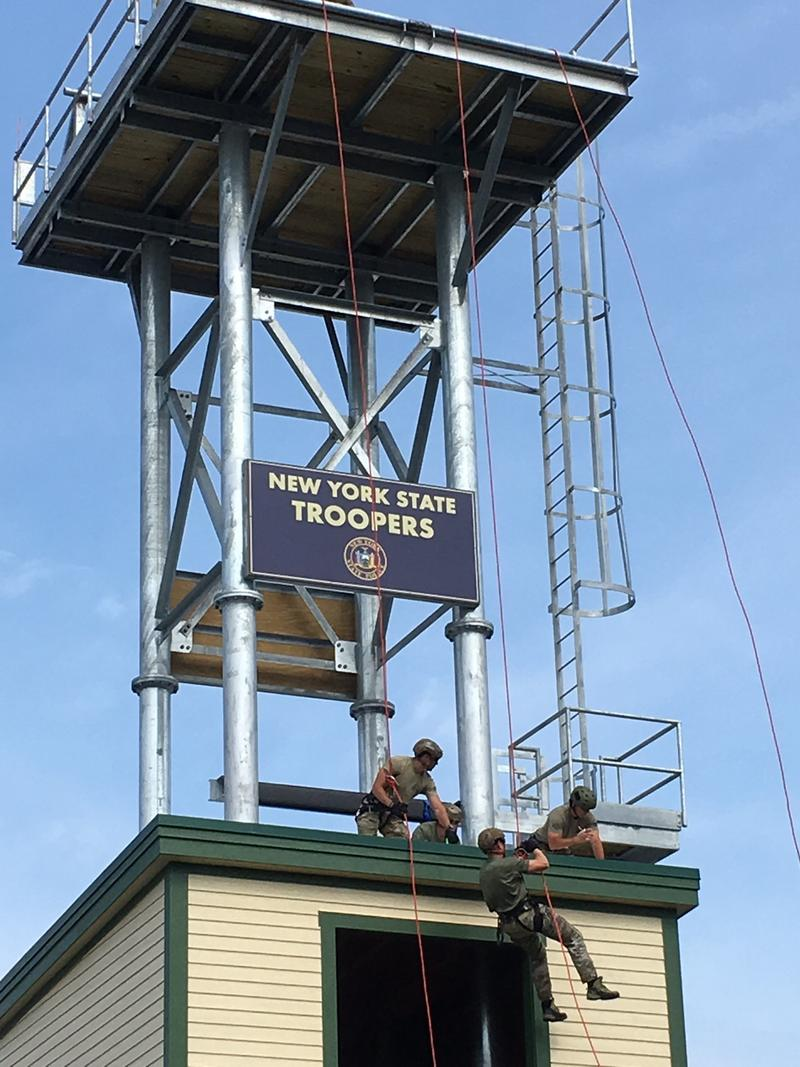 The new rappelling tower is 60 feet high.