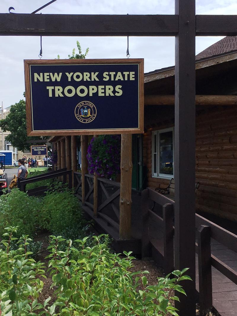 The new New York State Police exhibit area.