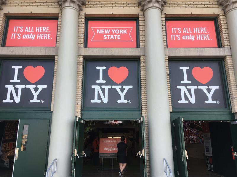 The entrance to the new I Love NY exhibit.