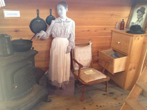 Another view of the living quarters in the replica canal boat.