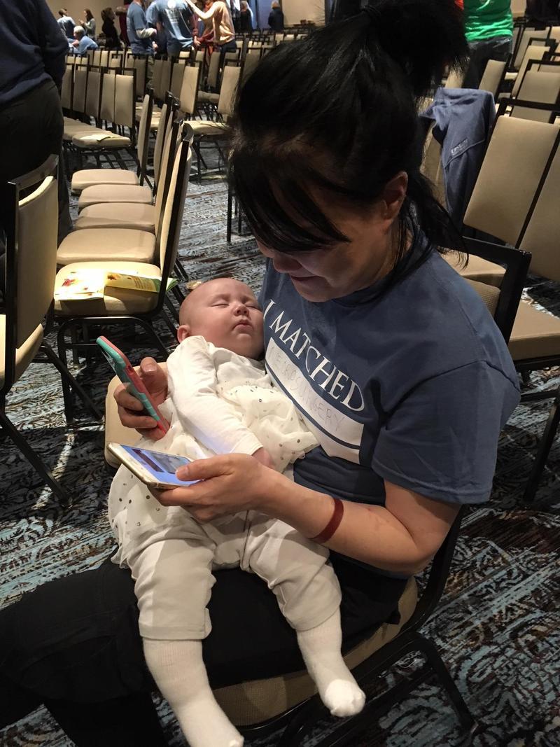 This future neurosurgeon has her hands full.