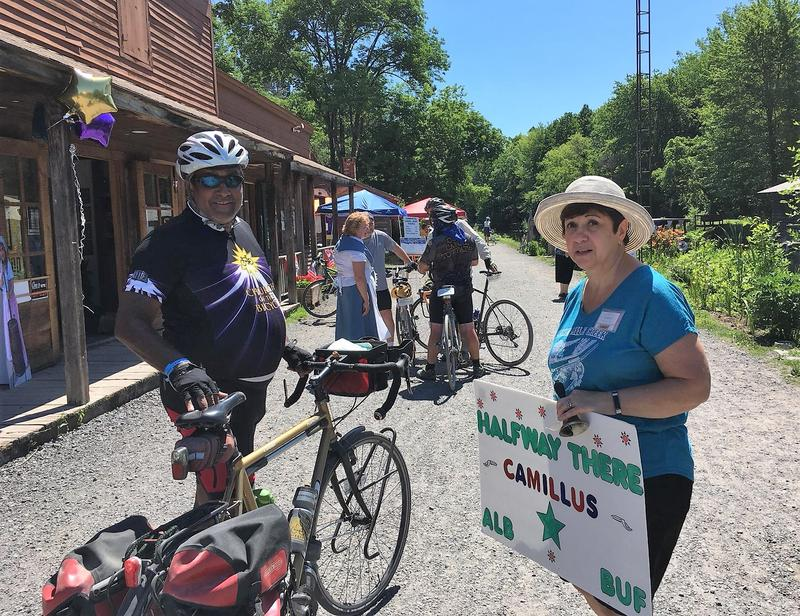Mike Khadabux of Garrison, NY is riding the Erie Canal for the first time.