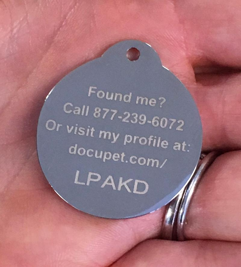 Each tag contains a code, which is linked to a profile of the pet.