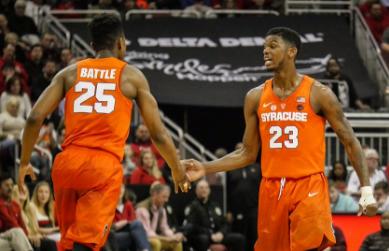 Syracuse Defeats Louisville 78 73 Behind Howard And Battle Waer