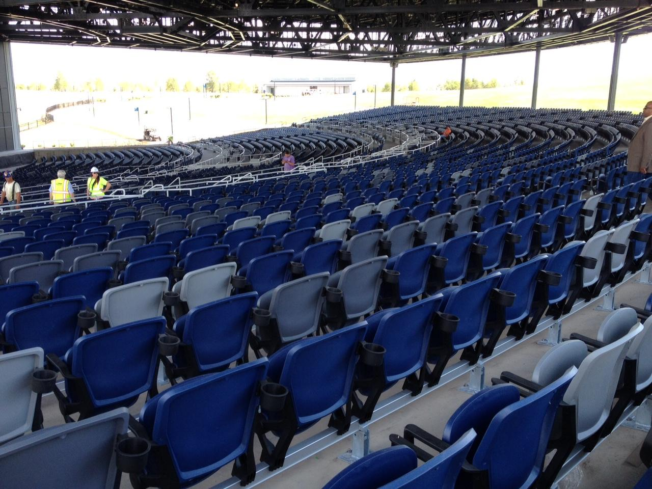 Some Of The 5 000 Covered Seats At Lakeview Amphiteater
