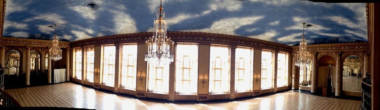 Panorama Of The Red Grand Ballroom