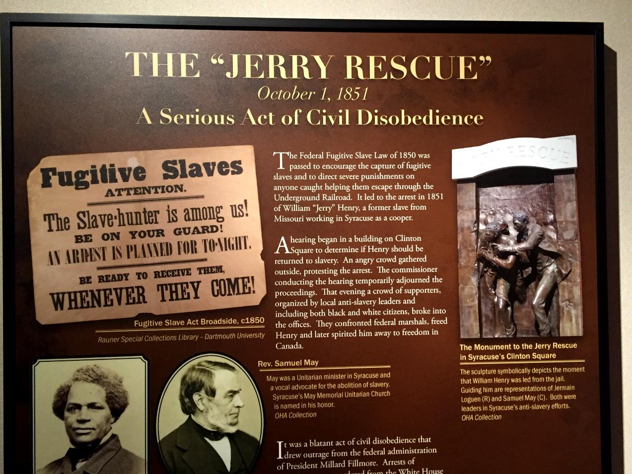 Jerry Rescue Facts Slaves Hidden At Restaurant Womens Rights