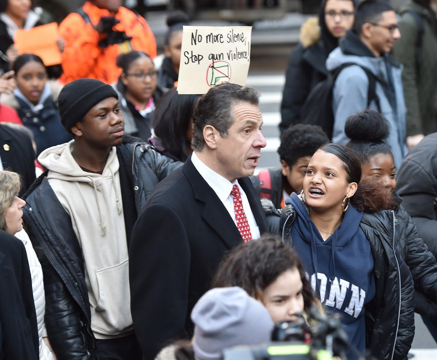 Cuomo: New York schools shouldn't discipline students for walkouts