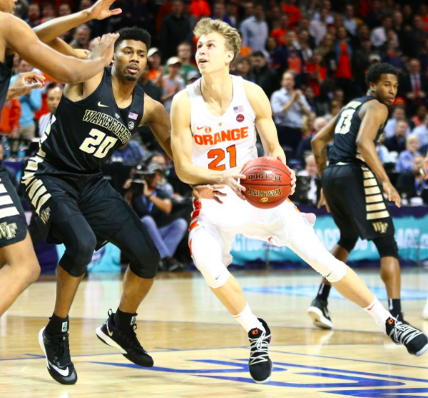 Freshman Marek Dolezaj led the Orange with a career-high 20 points in last night's victory over Wake Forest