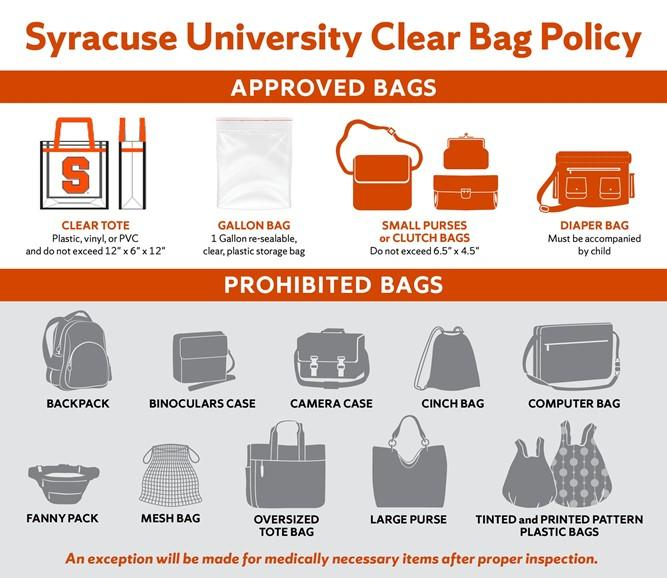 Examples Of Bags You Can And T Take Into A Concert Or Other Event In The Carrier Dome