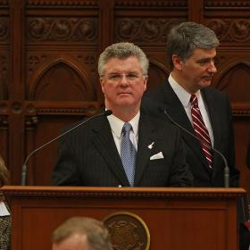 Christopher G. Donovan, former Speaker of the Connecticut House of Representatives, on the opening day of the 2009 Legislative Session.