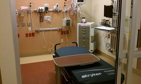 One of the 94 new patient care rooms in the new emergency department at Baystate Medical Center