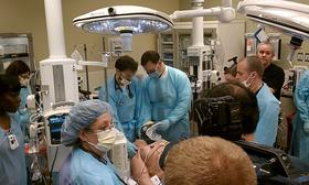 Staff at Baystate Medical Center conduct a simulation in one of the new trauma rooms. The