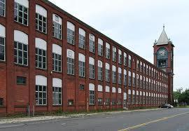 This building is part of the Ludlow Mills complex in Ludlow, MA