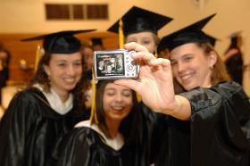 Seniors document their last moments as undergraduate students at Nazareth College in Rochester, New York in May 2008