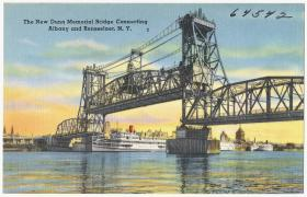 The Dunn Memorial Bridge connecting Albany and Rensselaer, N. Y.