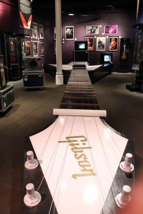 The world's longest playable guitar is part of a touring exhibit on the history and science of the guitar at the Springfield Museums through April 21,2013