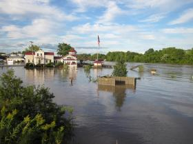 Flooding in Schenectady, New York due to the aftermath of Hurricane Irene - August 29, 2011.