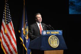 March 7, 2013 - Purchase, NY - Governor Cuomo Delivers State of the State and Budget Message in Westchester County.