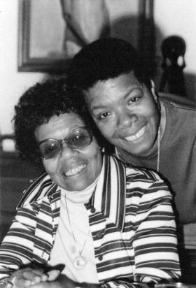 Maya Angelou and her mother, Vivian Baxter.