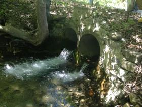 A culvert prevents migration of certain fish species and other wildlife.