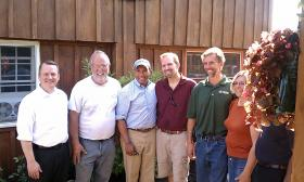 Gov. Deval Patrick (D-MA) and Lt.Gov Timothy Murray ( at left) pictured with members of the Kosinski family on the family farm in Westfield, MA