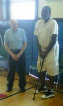 Ron Sontz coached Ticky Burden at Philip Schuyler High School. The two appear together in a photo taken June 21, 2013 at Trinity Alliance in Albany, NY.