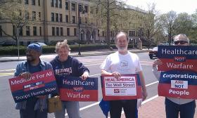 Members of Progressive Democrats of America during a demonstration in 2012 outside the office of U.S. Rep. Richard Neal (D-MA) in Springfield