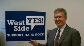 Hard Rock New England President Tim Maland at the casino referendum campaign headquarters in West Springfield, MA.