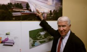 Eugene Kohn, chairman of Kohn Pedersen Fox Associates-the architects for the Mohegan Sun casino project in Palmer, MA.