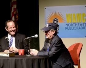 Eliot Spitzer with WAMC's Alan Chartock