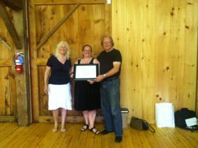 From left to right, Judy Wicks, Diane Reeder, Ajax Greene