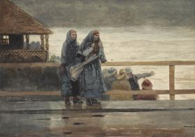 Winslow Homer, Perils of the Sea, 1881. Watercolor over graphite on cream wove paper. The Clark, 1955.774