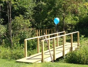 The entrance to the new walking trails at North Adams Regional Hospital.