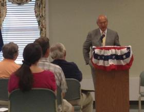 Rep. Paul Tonko speaks at Ballston Town Hall