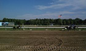 A view of the Saratoga Race Course