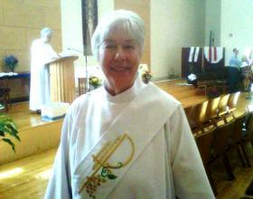 Mary Theresa Streck of Albany, the city's first female priest