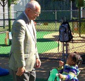 Congressman Paul Tonko visits with students and staff at Parsons Child & Family Center's Early Head Start program.
