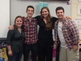 From left to right: Melissa Seideman; Jackson Lisotta; Shauna Ricketts; and Tyler Mell